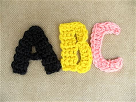 easy   crochet letter patterns patterns hub