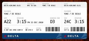 plane ticket me how many delta when he bought ticket