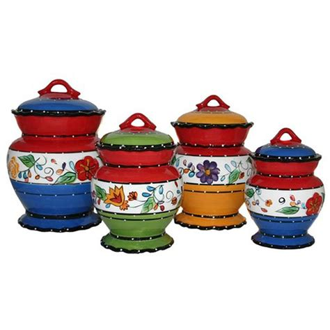 4 kitchen canister sets viva collection deluxe handcrafted 4 kitchen
