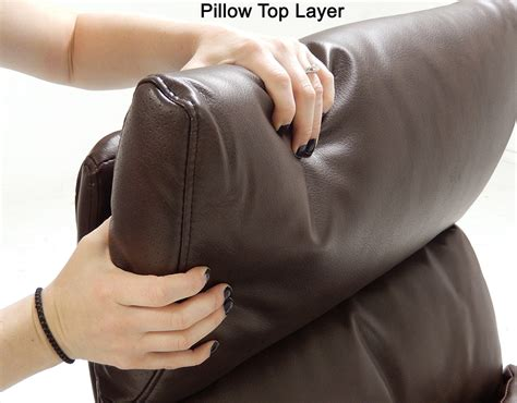 pillow top leather office recliner wfootrest