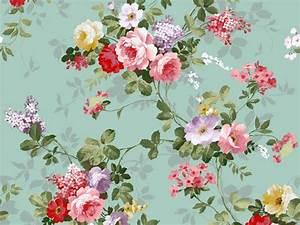 Vintage Floral Wallpaper Pattern   WallMaya.com