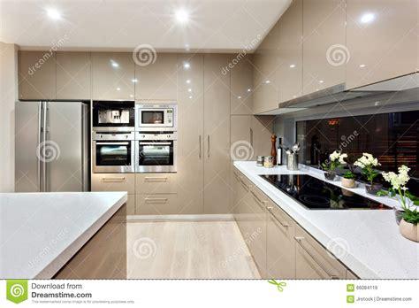 cuisines design industries intérieur de la cuisine moderne dans une maison de luxe