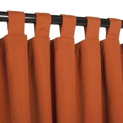 rust sunbrella outdoor curtains with tabs dfohome
