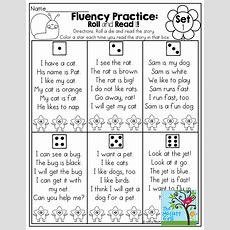 April No Prep Packet (kindergarten)  Fluency Practice
