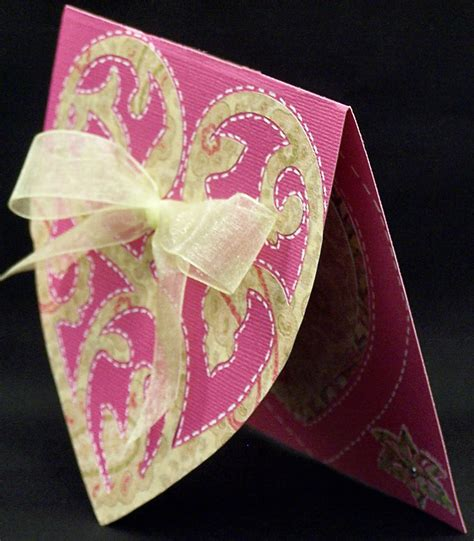 These make an adorable addition to any gallery wall! CardCrazeeMe53: Heart Shaped Sympathy Card