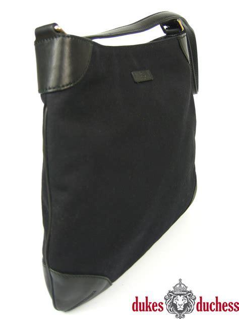 GUCCI Shopper Umhänge Tasche Handtasche Leder Nylon