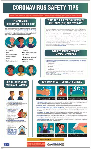 coronavirus safety awareness poster safety awareness