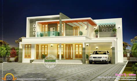 flat roof contemporary villa