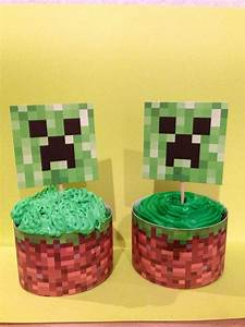 Minecraft Cupcake Toppers Cupcake Wrappers Printable DIY ...