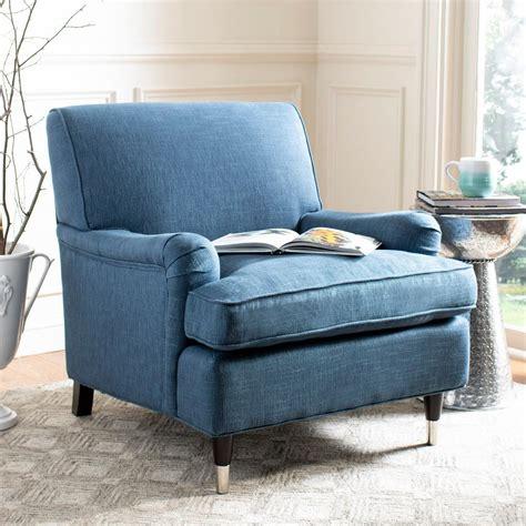 safavieh armchair safavieh navy espresso linen club arm chair mcr4571j