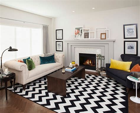 chevron pattern ideas  living rooms rugs drapes