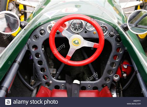 Drivers View Of The Cockpit Of A Lotus Formula 1 Racing