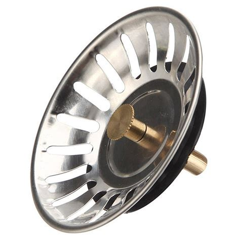 Stainless Steel Sink Plug Basket Strainer Waste Drain