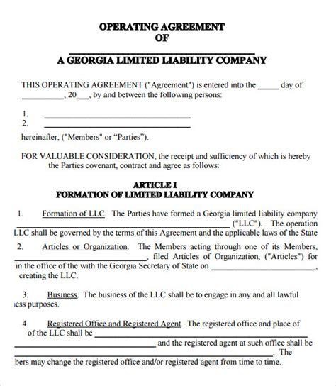 llc operating agreement    documents