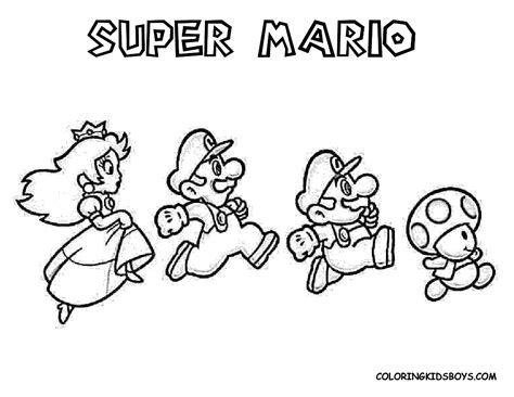 Mario Coloring Pages Free Large Images