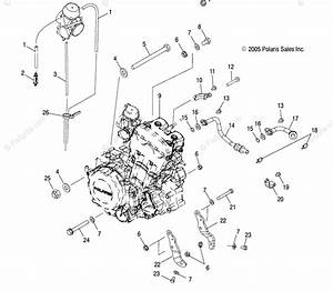 Polaris Atv 2006 Oem Parts Diagram For Engine Mounting   Ab