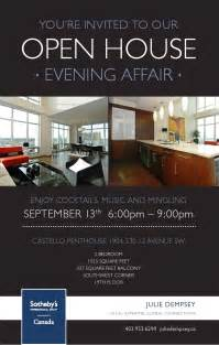 Real Estate Open House Invitations