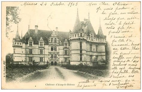 azay le rideau carte 37 azay le rideau ch 226 teau 1903