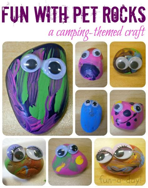 with pet rocks a camping themed craft 737 | pet rock collage 2