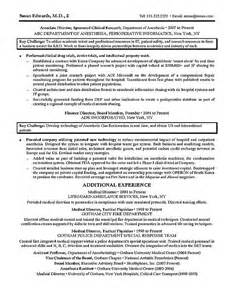 clinical research experience resume clinical research resume exle