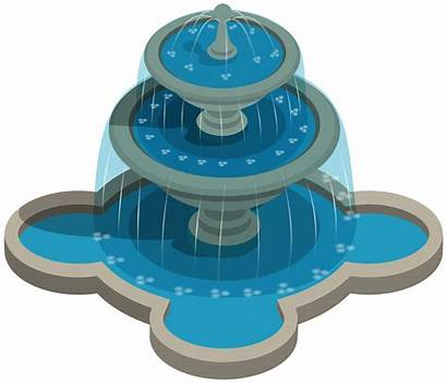 Fountain Water Clipart Fountains Transparent Clip Round