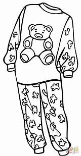 Pajamas Coloring Pajama Pages Clipart Drawing Printable Sheets Clothes Outline Colouring Preschool Pyjamas Supercoloring Shoes Pj Template Doll Printables Mask sketch template