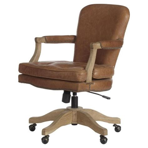 wooden desk chair with wheels