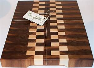 Hand, Crafted, End, Grain, Walnut, And, Maple, Wood, Cutting, Board, By, Blowing, Rock, Woodworks