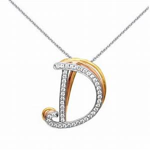 15ct simon g diamond 18k three tone gold d initial With letter d diamond pendant