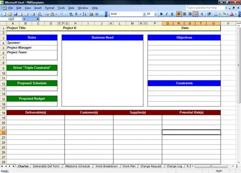 excel spreadsheets    project management