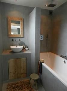Beton Cire Bad : badkamer met beton cir badkamers voorbeelden ~ Indierocktalk.com Haus und Dekorationen