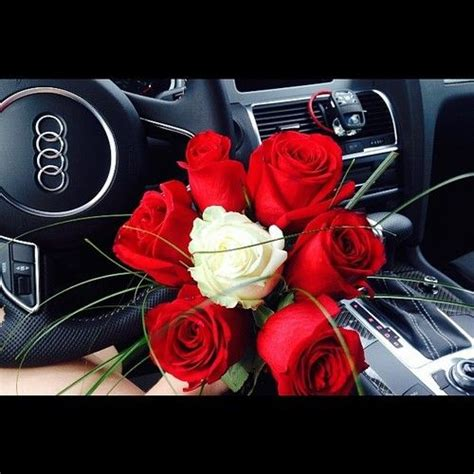 audi love red white rose roses gift romantic