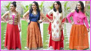 How to Style Ethnic Skirts | Indian Ethnic Wear | Perkymegs - YouTube