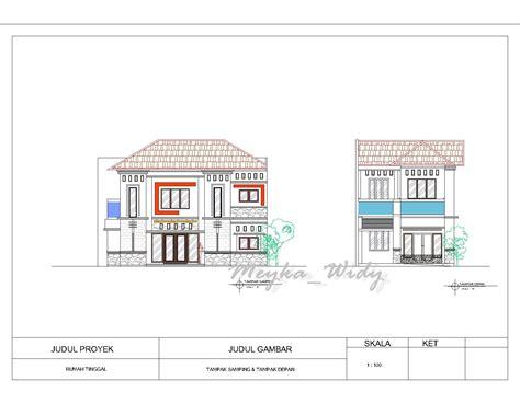 mw architecture  design gambar kerja rumah tinggal