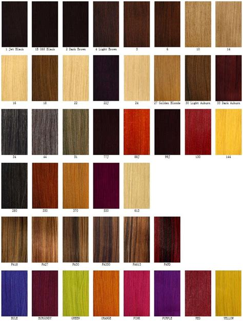 Different Hair Color Chart Hair Color Pinterest