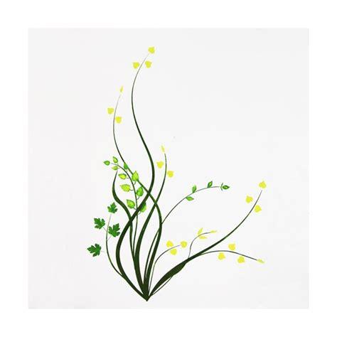 rideaux originaux pour cuisine pochoir floral clicanddeco