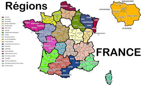 Carte De à Imprimer Avec Villes by Carte Avec R 233 Gions Et Villes The Best Cart