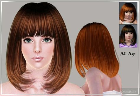 the sims 3 below the chin with bangs hairstyle d 14 by