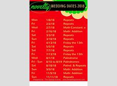 EPIC GUIDE Choose a Wedding Date for 2016, 2017, or 2018