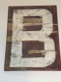 Rustic Metal Alphabet Letters