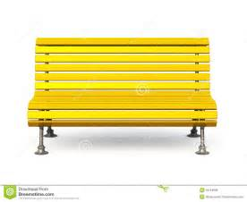Yellow Leather Bench