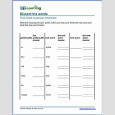 Grade 3 Vocabulary Worksheet  Identify The Prefix Suffix Words  K5 Learning