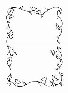 Best Black And White Flower Border #15737 - Clipartion.com