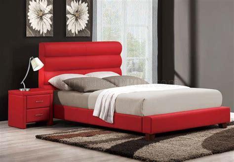aven upholstered bed  homelegance  red woptions