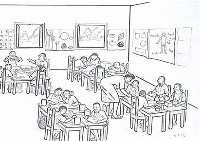 Drawing Sylvester Classroom Children Scene Drawings 10th