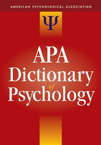 dictionary  psychology