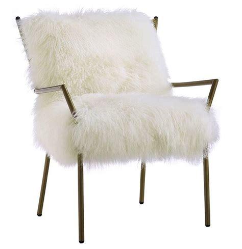 target furniture policy lena sheepskin chair white gold modern digs furniture