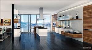 Home interior design decor modern style kitchen designs for Modern house interior design kitchen