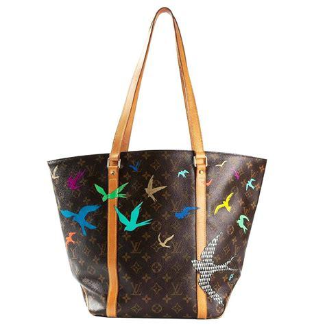 louis vuitton hand painted monogram shopper bag  stdibs