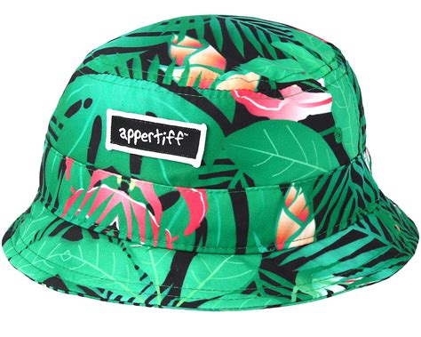 graphic hat green bucket appertiff start cappellino